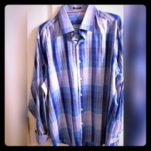 Bugatchi -XL- Classic fit long sleeve collar shirt